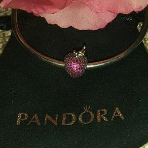 Pandora's Red Pave Apple Charm